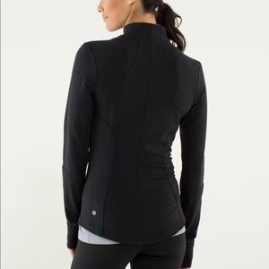 Lululemon Forme Black Jacket full zip mock neck